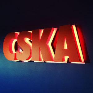 световой логотип для БК ЦСКА